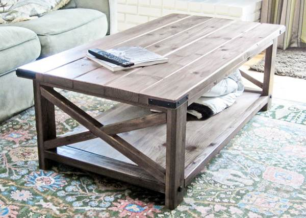 Coffee Table Rustic Look